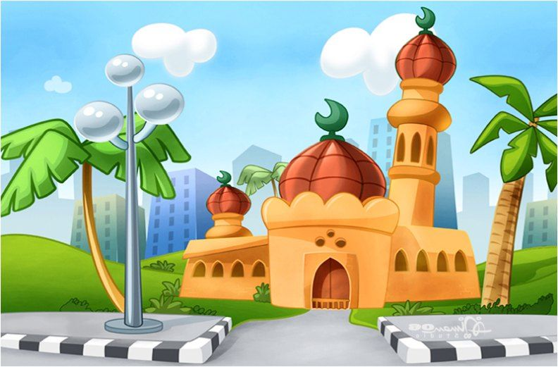 89 Gambar Gambar Masjid Kartun Hd Terlihat Cantik