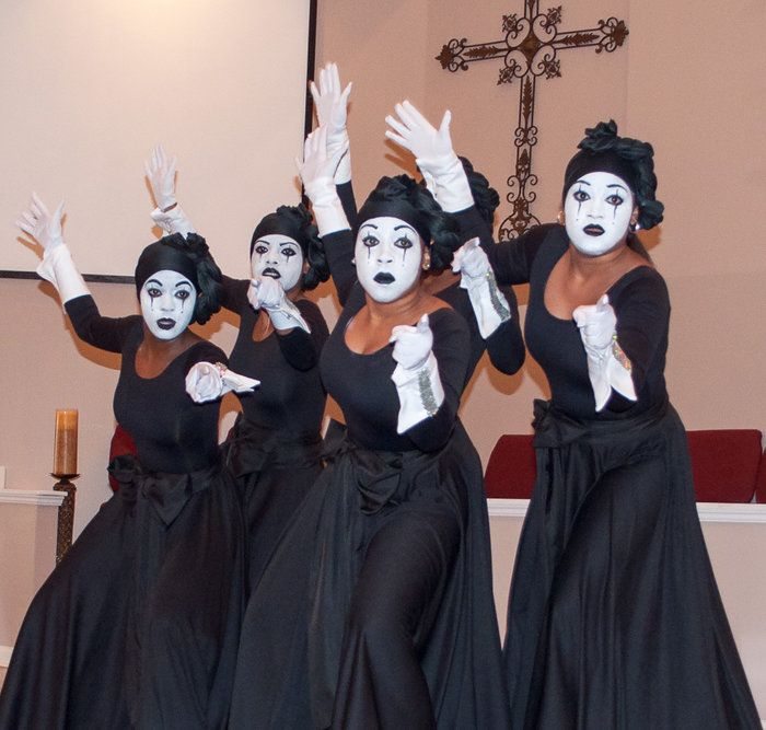 Cute Mime Makeup Ministry in Motion by ...