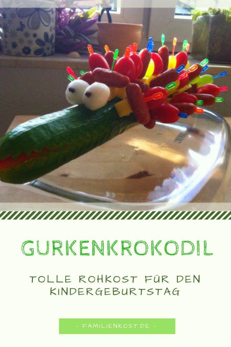 Innenarchitektur Fingerfood Kindergeburtstag Foto Von Das Gurkenkrokodil Ist Tolles Zum Für Rohkost
