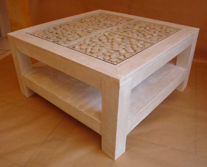 table basse bord de mer de la coccinelle ecolo meuble carton pinterest la coccinelle. Black Bedroom Furniture Sets. Home Design Ideas