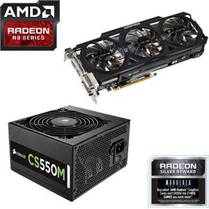 Gigabyte Radeon R9 270X 4GB Video Card + Corsair CS550M 80