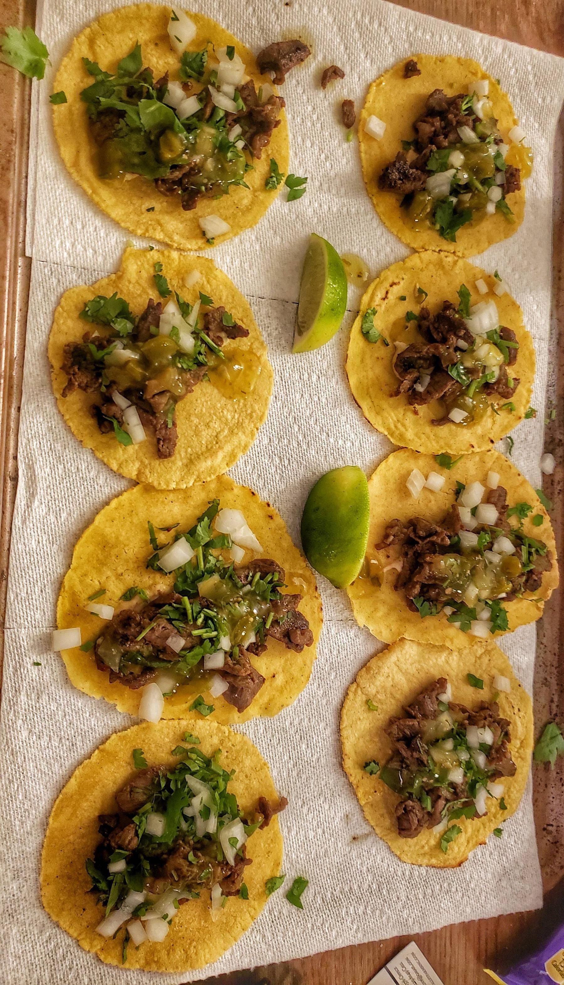 [Homemade] carne asada tacos #asadatacos
