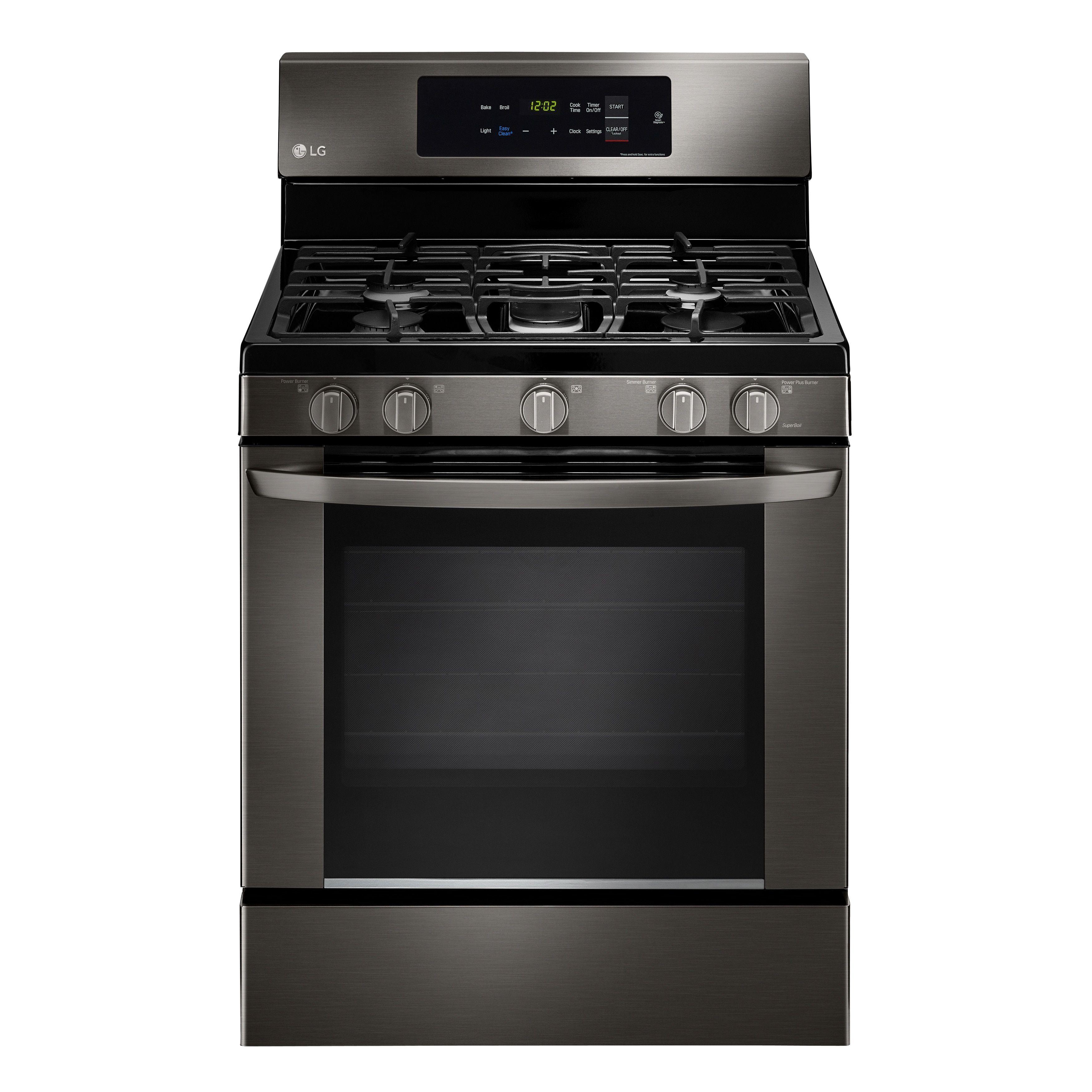 lg lrg3061bd black stainless steel 5 4 cubic foot easyclean single rh pinterest ca