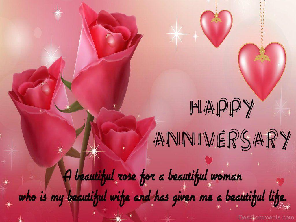 Happy Anniversary A Beautiful Rose Dc10 Anniversary Love