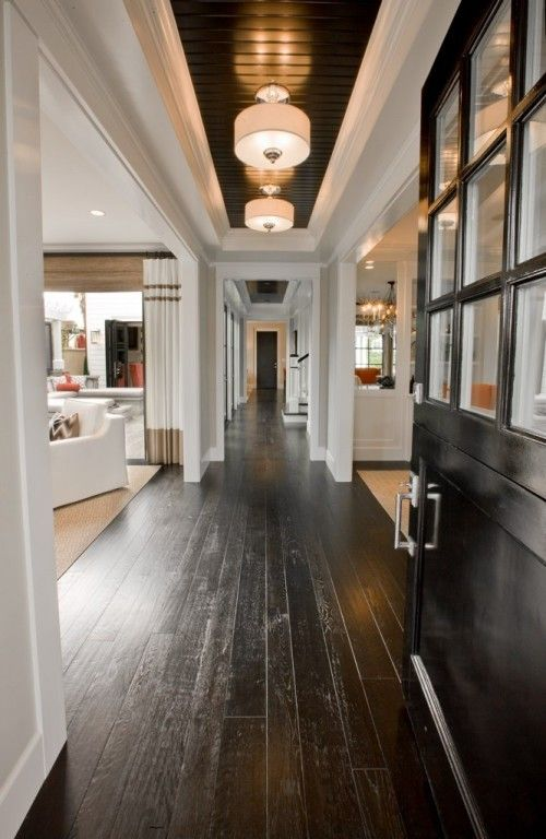 One Pinner Said Dark Stained Distressed Wood Floorespecially Nice When You Have A Home With Lot Of Lightlove Floors Although They Will Show Dust