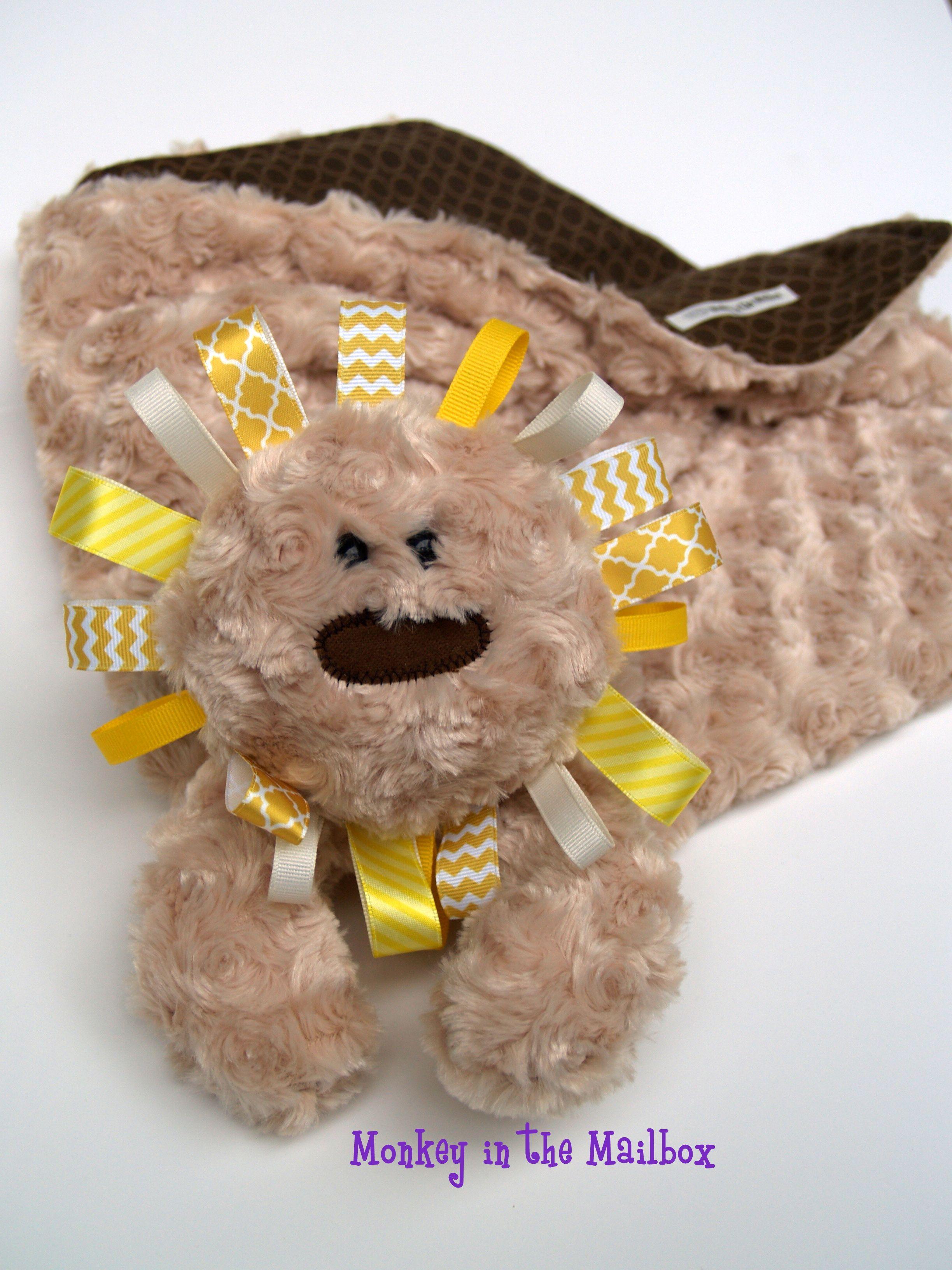 Stuffed Animal Lion Lovie Blanket Animals Lovie Teddy Bear