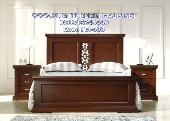 Set Kamar Ranjang Pengantin Minimalis Murah Bedroom Bed Design Bed Furniture Design Bed Design