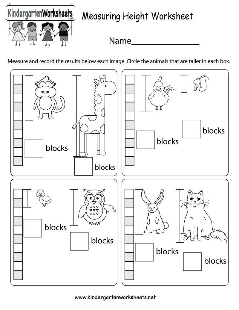 Measure And Record Kindergarten Math Worksheet Length Width Easy Math Cen Kindergarten Math Units Kindergarten Math Worksheets Measurement Kindergarten [ 1102 x 850 Pixel ]