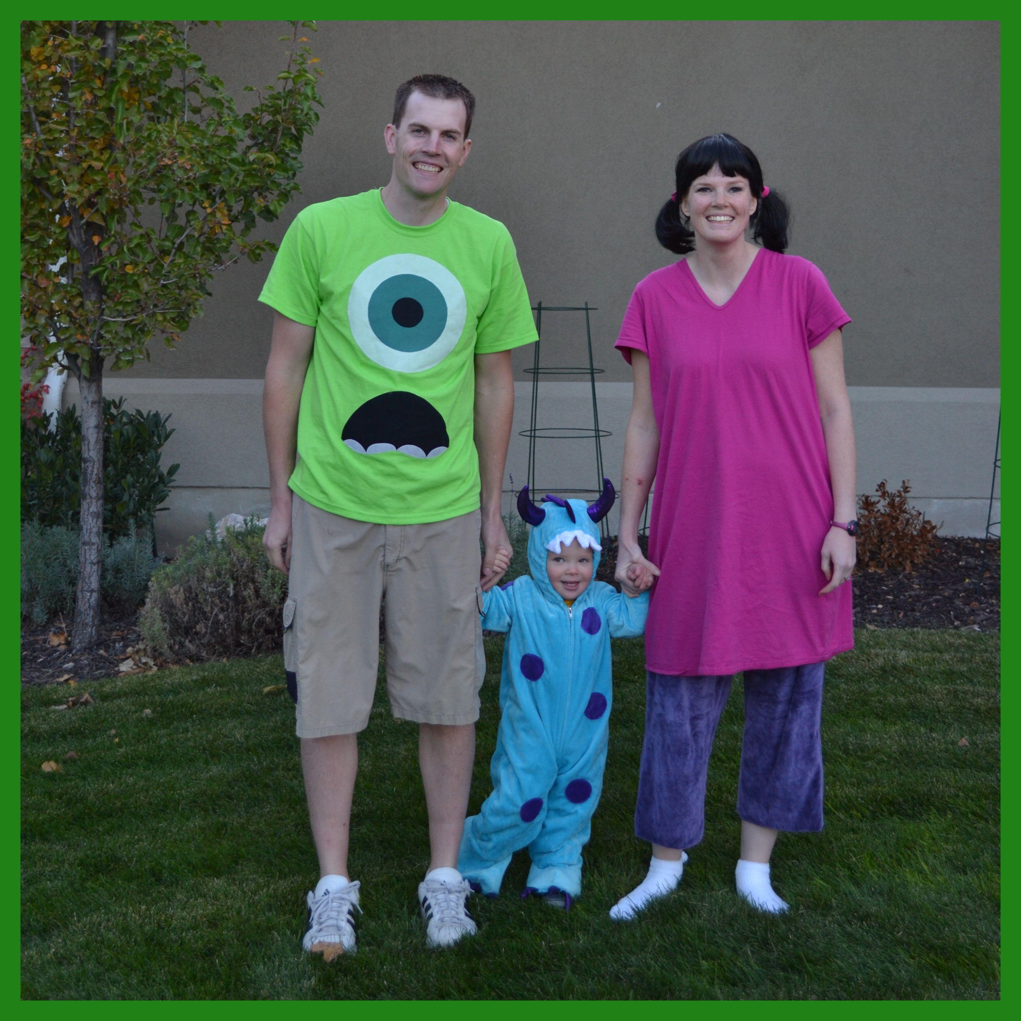 Monsters Inc Family Halloween Costumes Mike Wazowski Sulley Boo Boo Halloween Costume Pumpkin Halloween Costume Mike Wazowski Costume