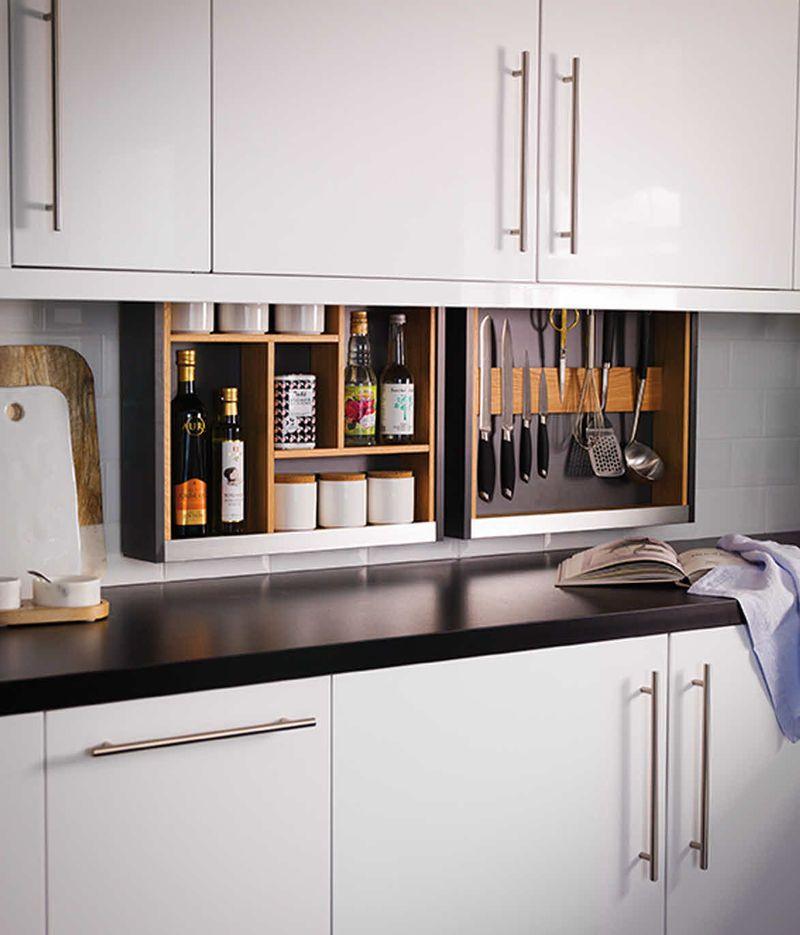Hidden Kitchen Storage Solutions With