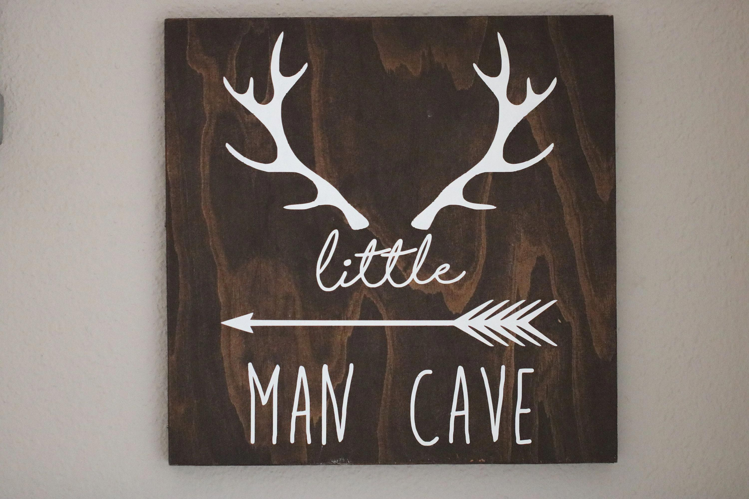 Little Man Cave Sign, rustic nursery, rustic kids room,baby boy nursery, wood sign, woodlands nursery, little man cave, boy room