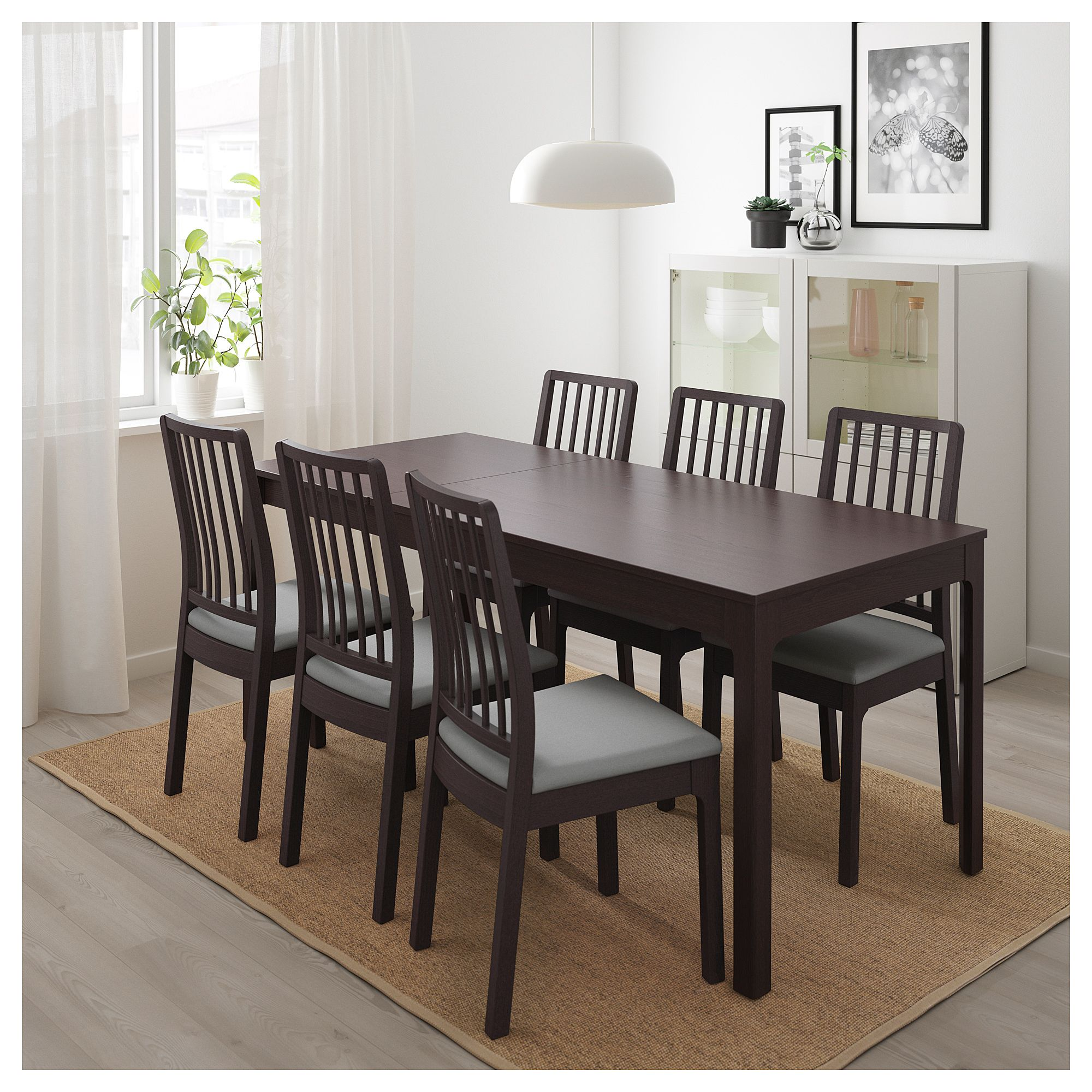 Ekedalen Extendable Table Dark Brown Dining Room Table Ikea