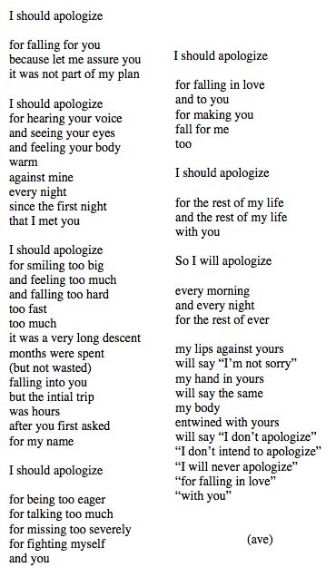poems to say sorry to your boyfriend