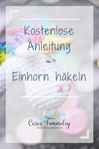 Anzeige: Kostenlose Einhorn-Häkelanleitung für den Schneider Base ...