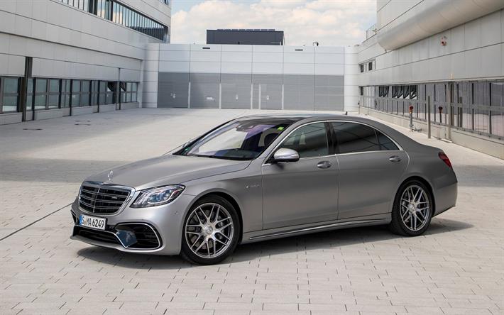 Download Wallpapers Mercedes Benz S63 Amg 2018 Gray S63 Sport Sedan Luxury Cars Mercedes Besthqwallpapers Com Mercedes Benz S550 Best Luxury Cars Luxury Cars