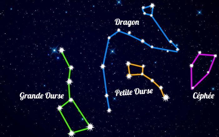 Constellations Entre La Grande Ourse Et Cassiopee Constellations Grande Ourse Constellations D Etoiles