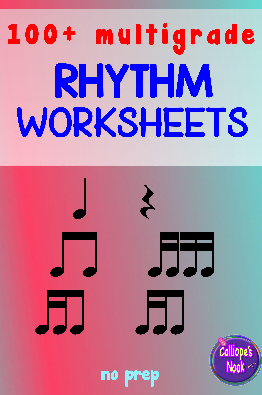 No Prep Rhythm Worksheets Bundle Quarter Amp Rest Eighth