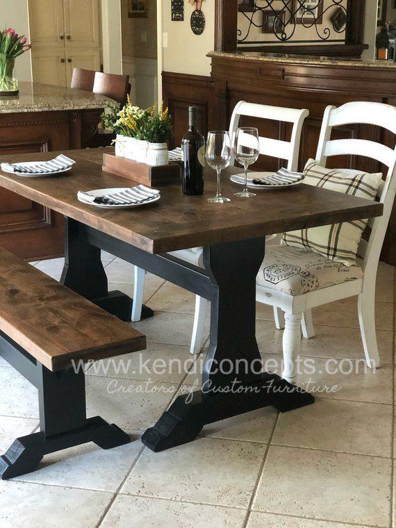 Farmhouse Table, Long Farm Table, Dining Room Table, Custom ...