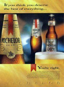 Vintage 1990 Michelob Beer Advertising Beer Advertising Beer