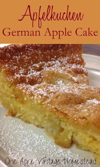 Apfelkuchen - Authentic Southern Bavarian Apple Cake #octoberfestfood