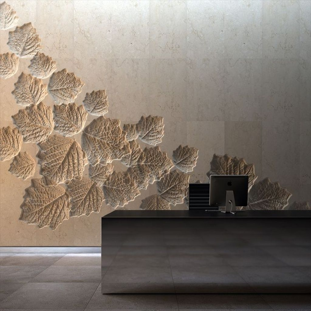 Concrete Walls Design With Worthy Sculpted Travertine Wall Design
