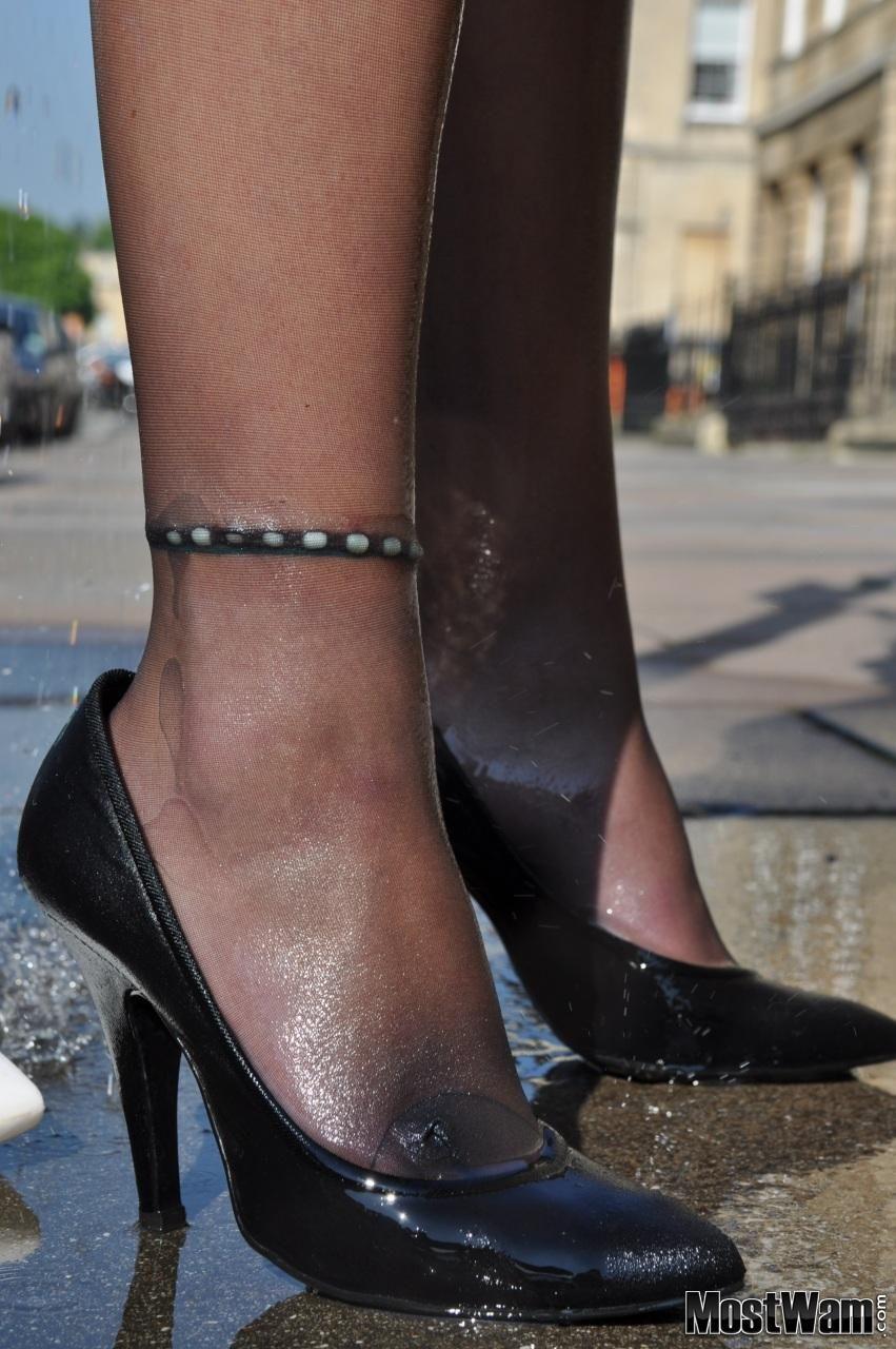 Pin On Wet Girls In Heels