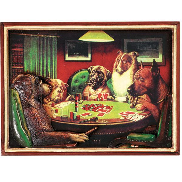 Poker Dogs With Cigars Wall Art Dog Art Dogs Playing Poker Posters Art Prints