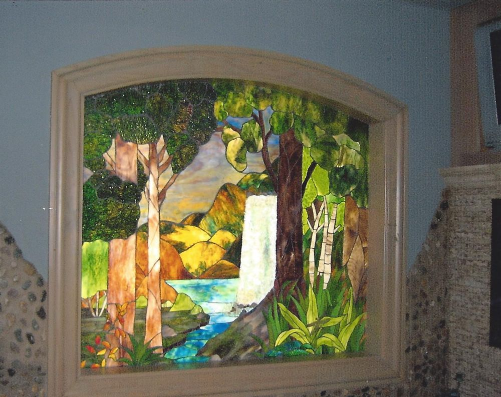 Beaumont leaded glass custom stained glass art stained glass