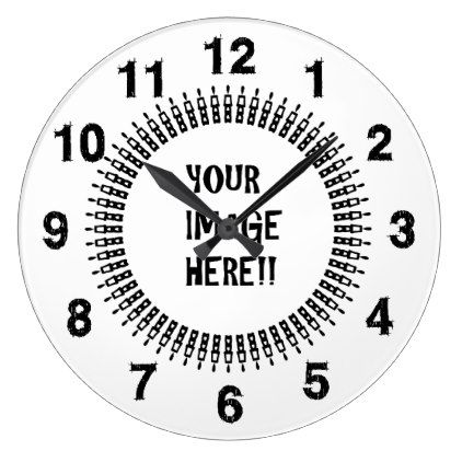 Design Your Own Round Large Wall Clock  Template Gifts Custom Diy