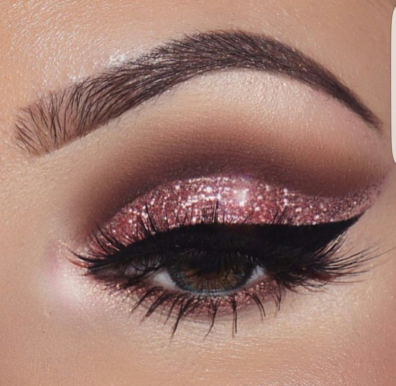 Rose Gold Rt Misi Sparkly Eye Makeup Glitter Eye Makeup
