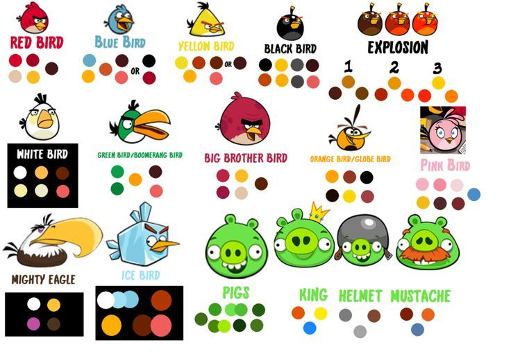 Toppers Personagens Angry Birds: Angry Birds Colors - Pesquisa Google