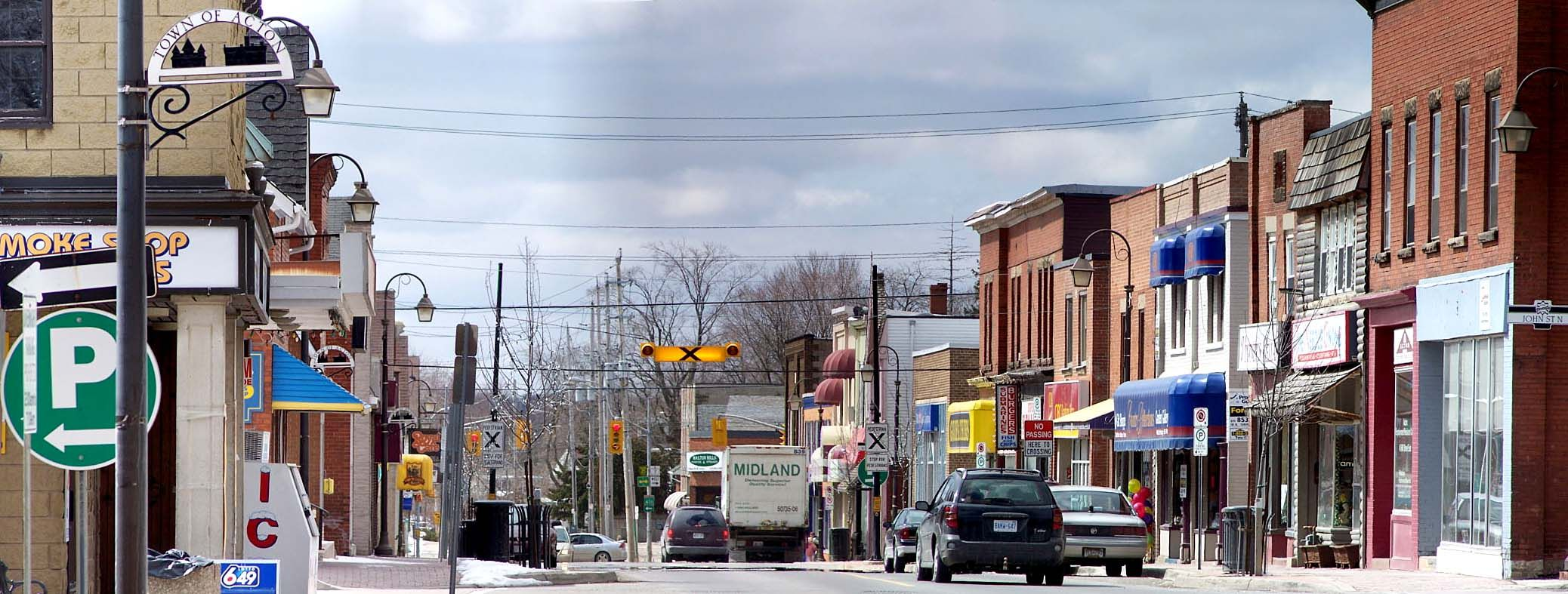 Main Street Acton, Ontario. This is where I lived until