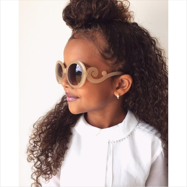 6072742bea583 Theses Kids Designer Inspired Chanel Sunglasses are definitely setting this  look off just right.