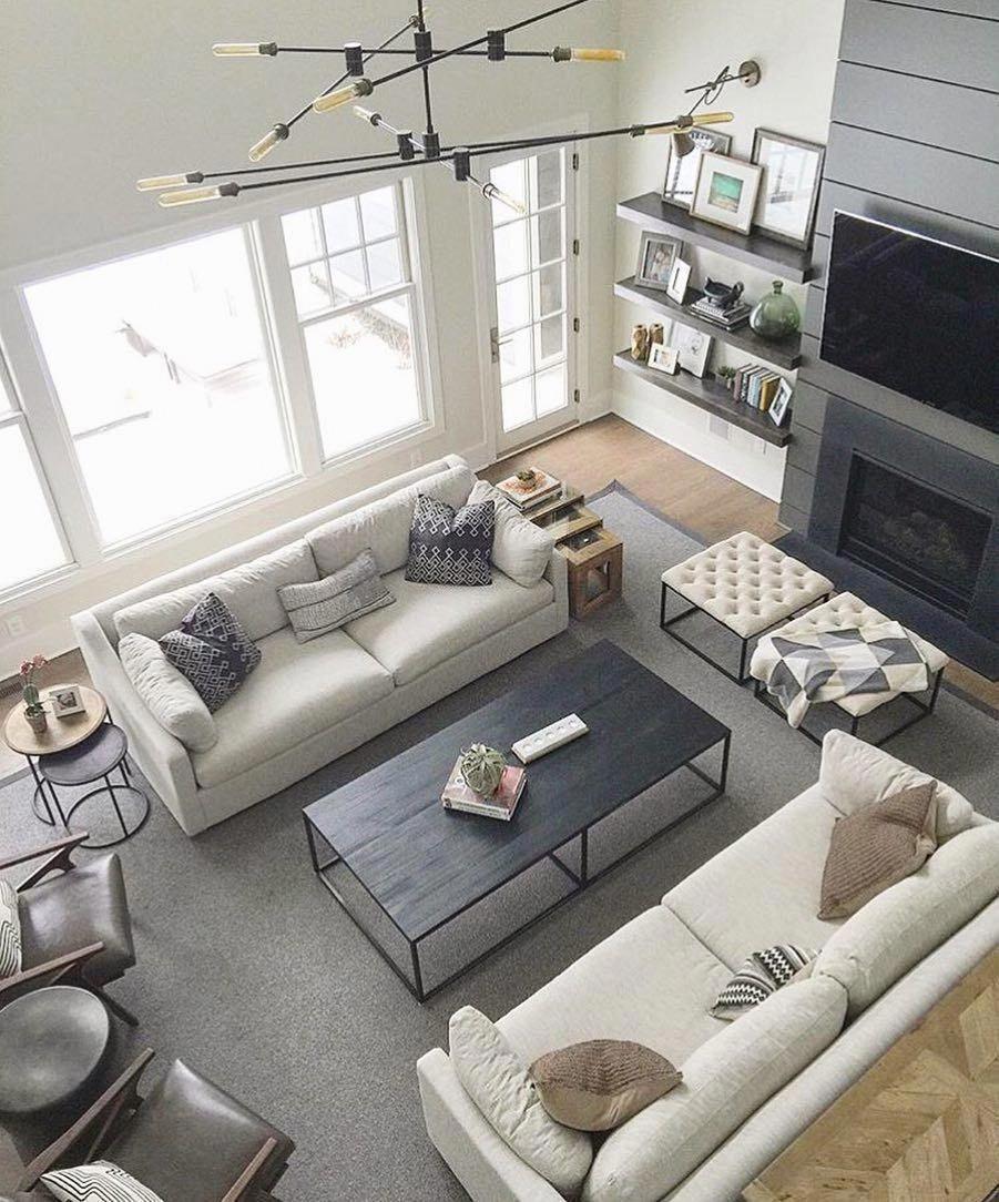 15 Attractive Modern Living Room Design Ideas: Transitional Living Room Design Ideas