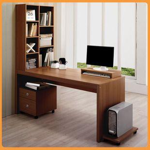 IKEA desktop home computer desk desk bookcase bookshelf combination of  special double desk
