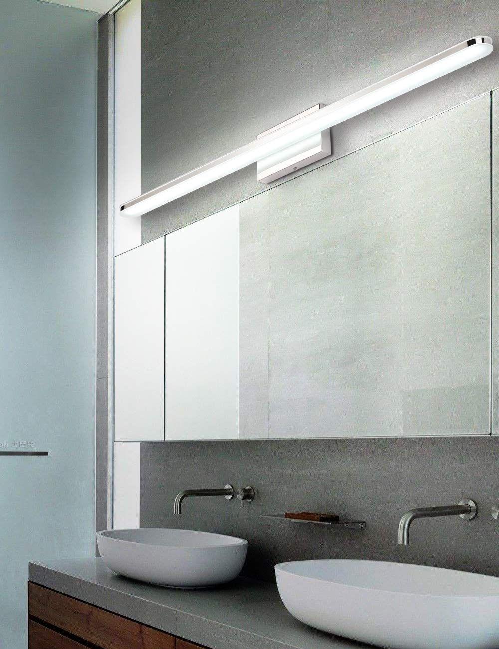 Led 39 4 Inch Bathroom Vanity Lighting Fixtures Stainless Steel