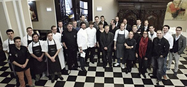 Die Teilnehmer des vierten CookTanks auf Schloss Lerbach