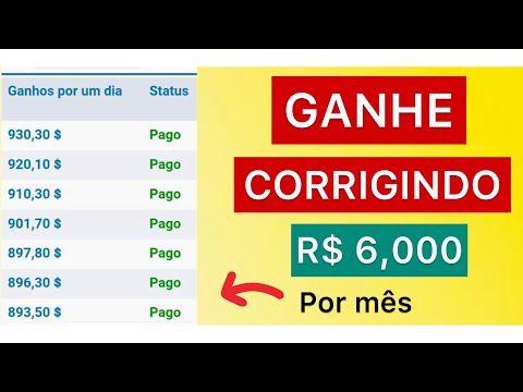 Ganhe R$ 6.000 mil por mês para corrigir palavras - site pagando (ganhar dinheiro na internet)