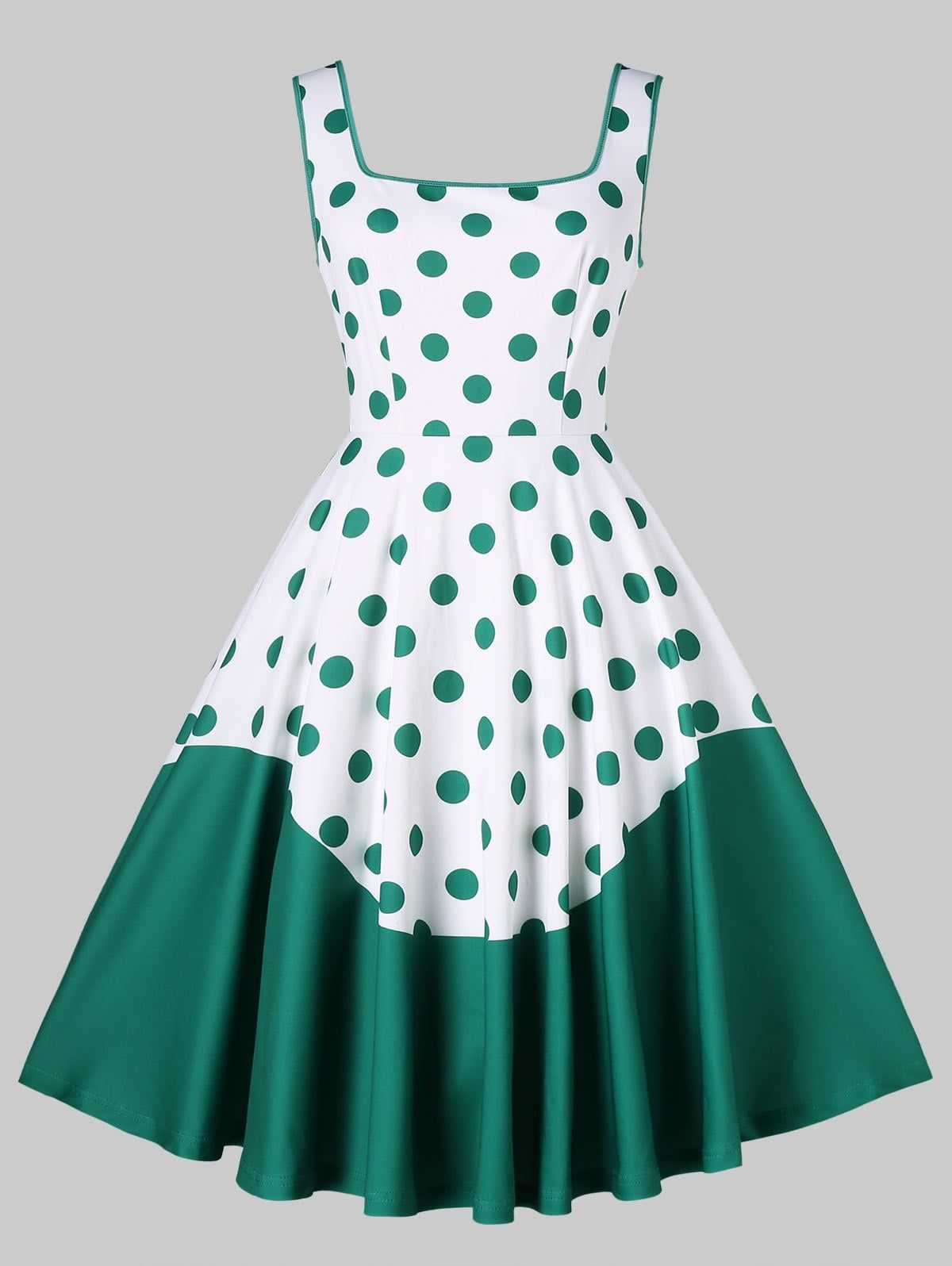 effed78d4e0e1 Polka Dot Printed Sleeveless Retro Dress in 2019 | Hi | Dresses ...