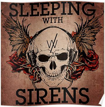 'Sleeping With Sirens - Grunge Skull' Poster by Explicit Designs