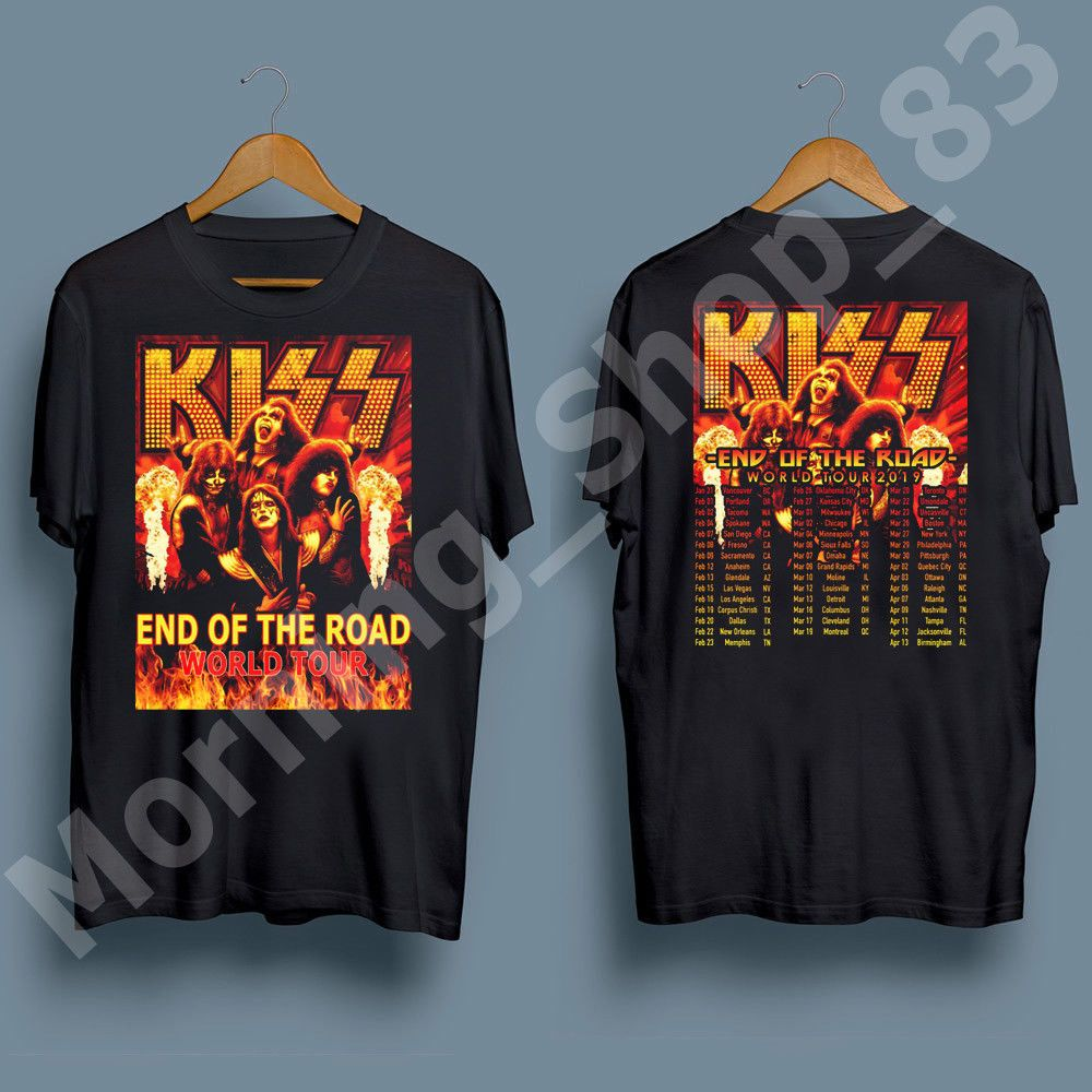 f98b1607a KISS band T-Shirt End of the Road Farewell Tour 2019 Tee / Kiss Band T shirt  #fashion #clothing #shoes #accessories #mensclothing #shirts (ebay link)