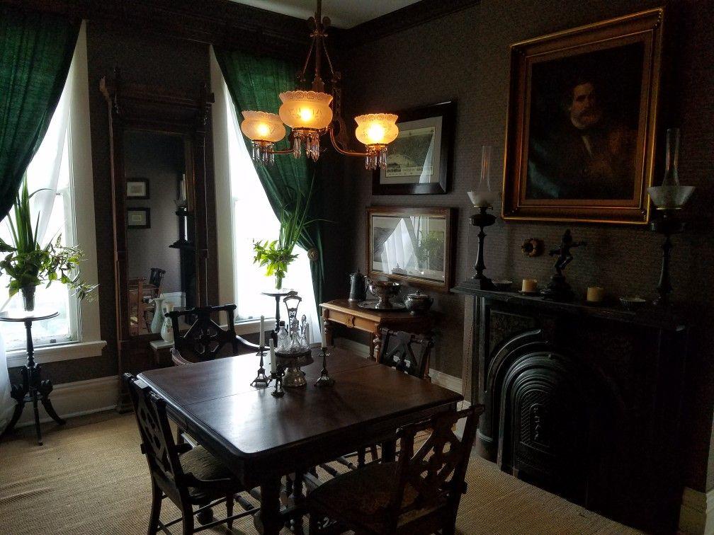 victorian dining room riverside historic district evansville rh pinterest nz