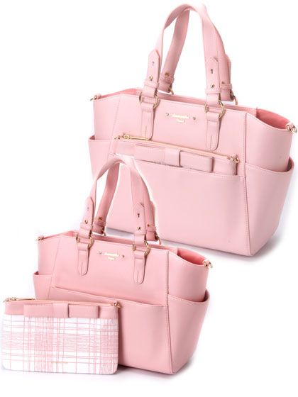 5f39910023 Samantha Vega multi-purpose pink bow bag