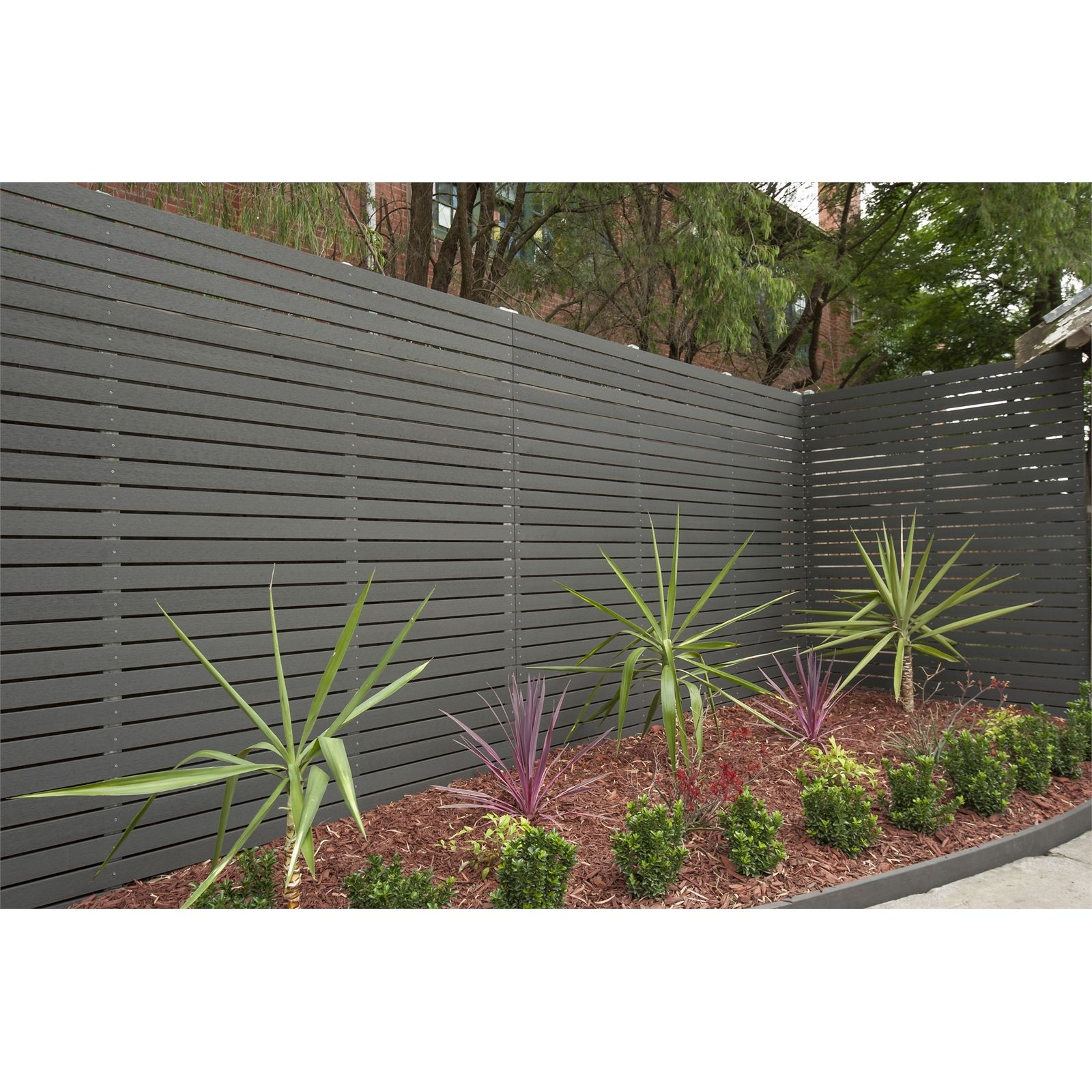 Ekodeck 67 X 15mm 2 7m Greystone Composite Screening Small Front Yard Landscaping Outdoor Backyard Backyard Landscaping