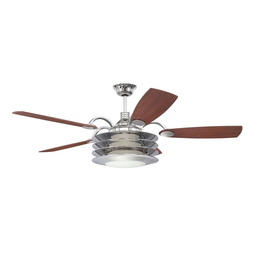 Maybe For The 40 S 50 S Kitchen With The Blades Painted Black Ellington Fans By Craftmade E Rou54ch5lkrw Brass Ceiling Fan Ceiling Fan Stylish Ceiling Fan