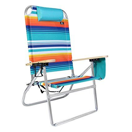 extra large high seat heavy duty 4 position beach chair w drink rh pinterest com