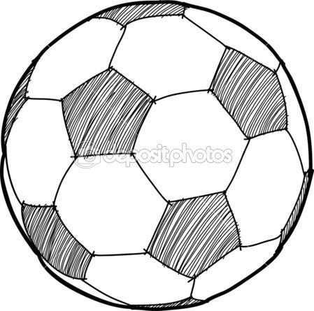 Hand Writing Soccer Ball Football Cartoon Soccer Ball Soccer Football