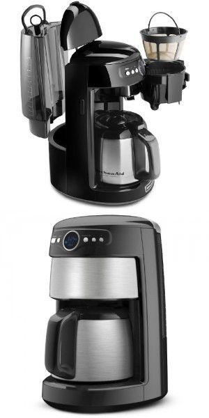 kitchenaid 12 cup thermal carafe coffee maker onyx black coffee rh pinterest com