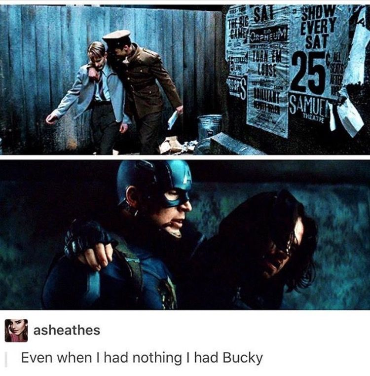 First movie, Bucky gets Steve out of the fight. In Civil War, it's Steve who ends the fight.