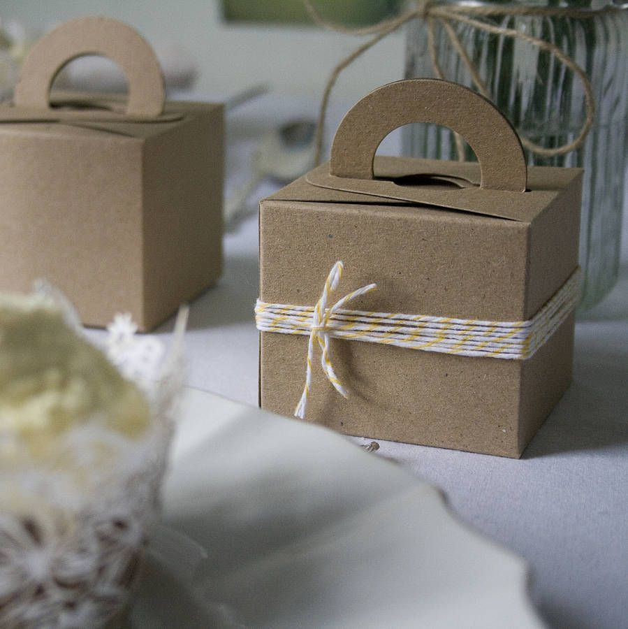 Set Of Ten Recycled Oatmeal Favour Boxes Pinterest Favours